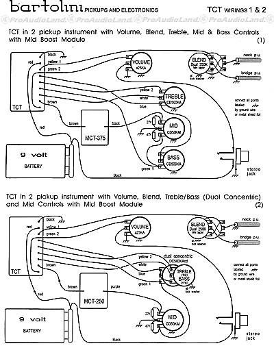 BARTOLINI NTCT 3 Band Tone Control Preamp w/ 400 Hz Mid