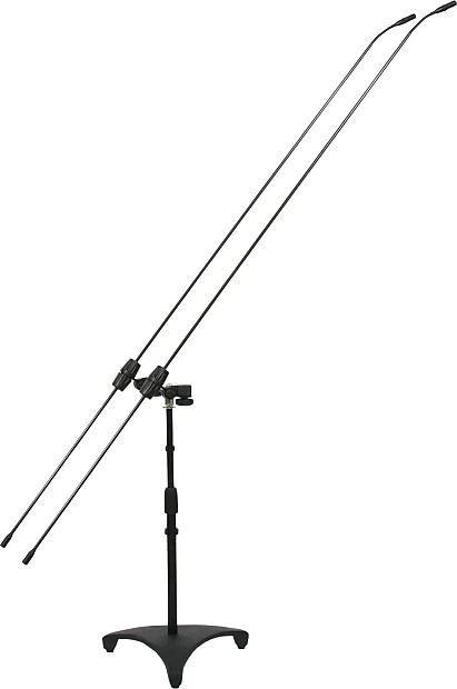 Galaxy Audio CBM-324D Dual Carbon Boom Microphones with