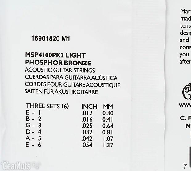 Martin MSP-4100 SP 92/8 Phosphor Bronze Light Acoustic