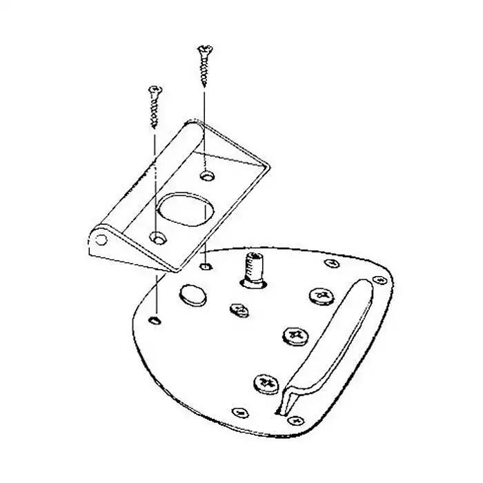 Buzz Stop Chrome Trem Roller For Fender Jazzmaster/Jaguar