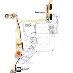 Fender Humbucker Wiring Diagram Autometer Air Fuel Ratio Gauge Vintage Traditional Jazzmaster Guitar Pre Wired