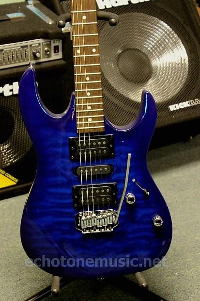 Ibanez Gio Grx70 Electric Guitar Transparent Blue Burst