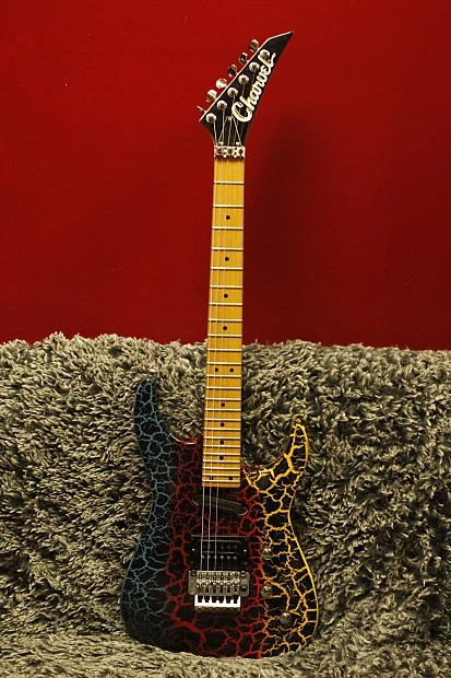 Charvel Fusion Deluxe Guitar 80s Japan Rainbow Crackle