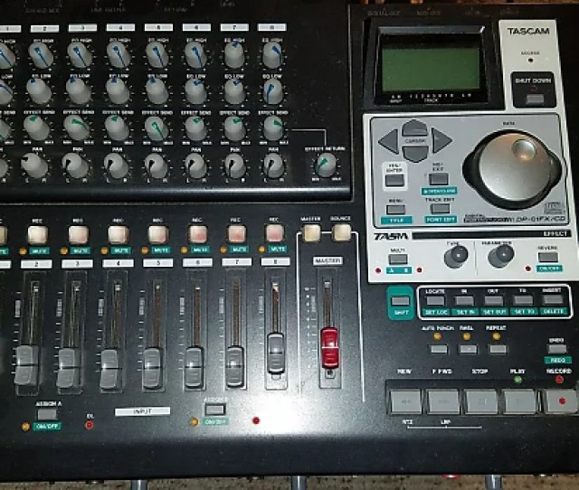 Tascam Dp 01 Fx Cd Xlr Inputs Cd Recorder Built In Effects