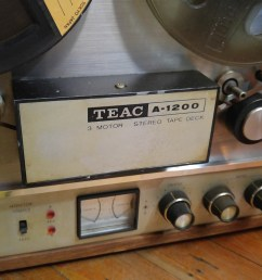 teac a 1200 3 motor stereo reel to reel tape deck 51877 works needs drive  [ 1600 x 1600 Pixel ]