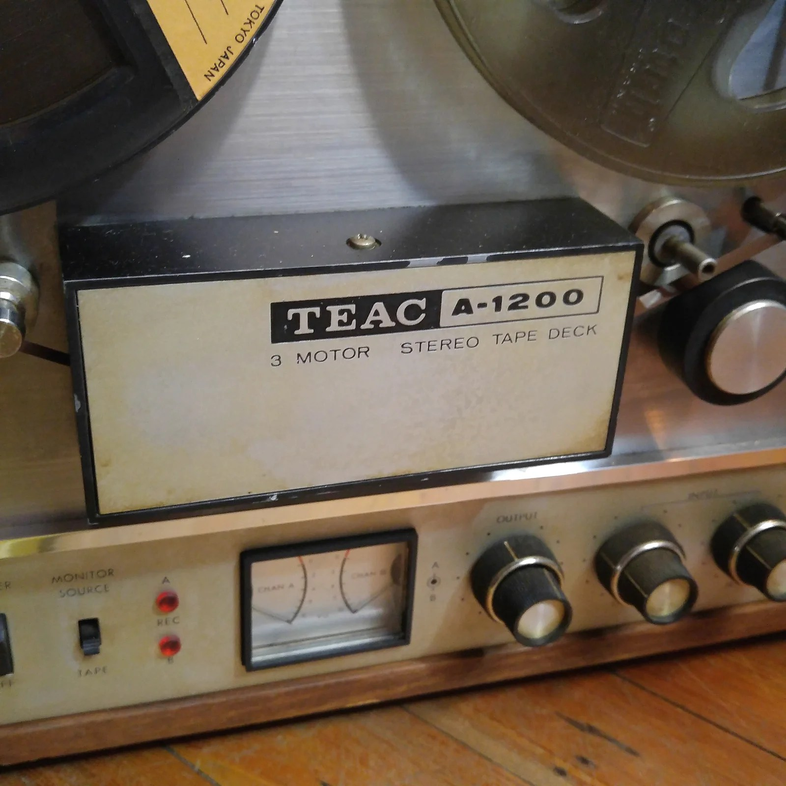 hight resolution of teac a 1200 3 motor stereo reel to reel tape deck 51877 works needs drive