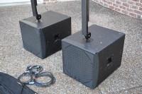 K array kr202s stereo powered PA speaker setup Excellent ...