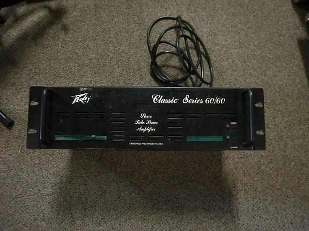 peavey classic 60 60 tube guitar rackmount power amp