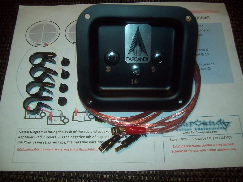 medium resolution of earcandy 2x12 2x10 guitar amp speaker cab series stereo mono combo 8 ohms l 8 ohms r 16 ohms mono