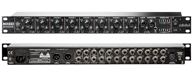 art mx822 eight channel 1u rackmount mixer