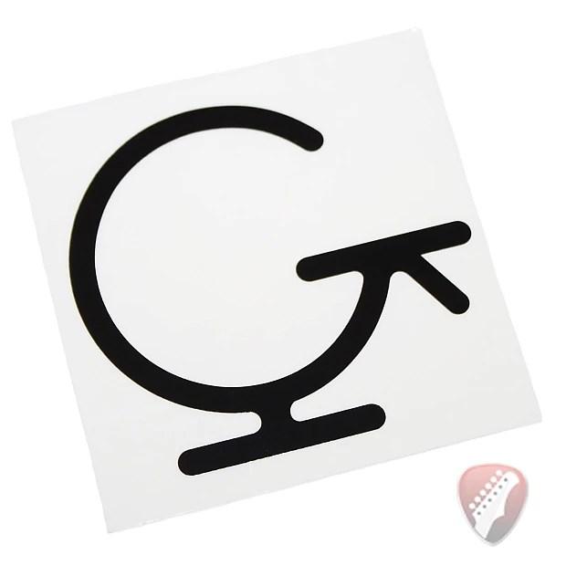 Gretsch G-Brand Sticker for your Gretsch Guitar or Window