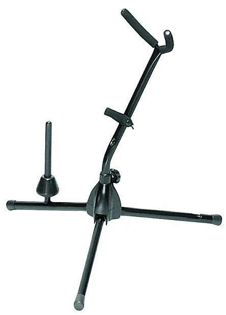 On Stage SXS7101B Alto/Tenor Saxophone Stand with Flute