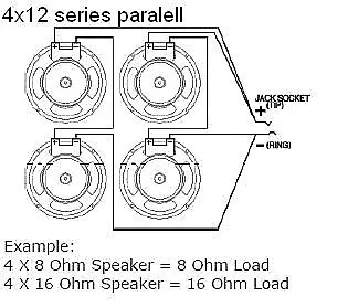 EarCandy 4x10 4x12 guitar amp speaker cab Wiring Harness 4