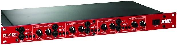 bbe di 400 4 channel rack mount di box with sonic maximizer