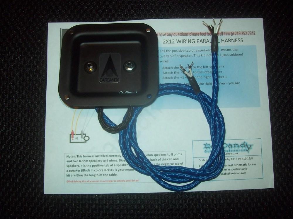 medium resolution of  earcandy 2x10 2x12 guitar speaker high definition wiring harness w on 4 conductor humbucker wiring