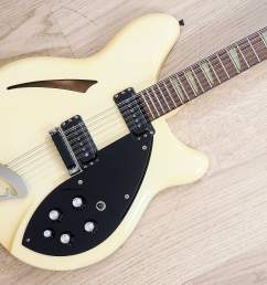 1991 rickenbacker 360 12 electric guitar 12 string white tuxedo stock clean [ 1600 x 1200 Pixel ]
