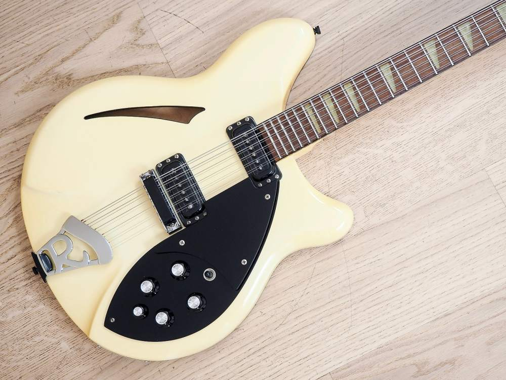 medium resolution of 1991 rickenbacker 360 12 electric guitar 12 string white tuxedo stock clean
