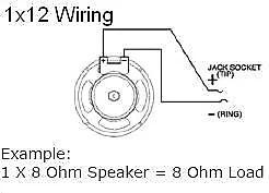EarCandy 1x10 1x12 1x15 guitar amp speaker cab wiring