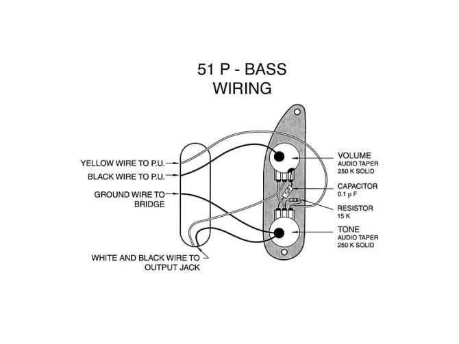prewired '51  '56 precision bass wiring harness  true vintage spec usa  parts  wainwright customs