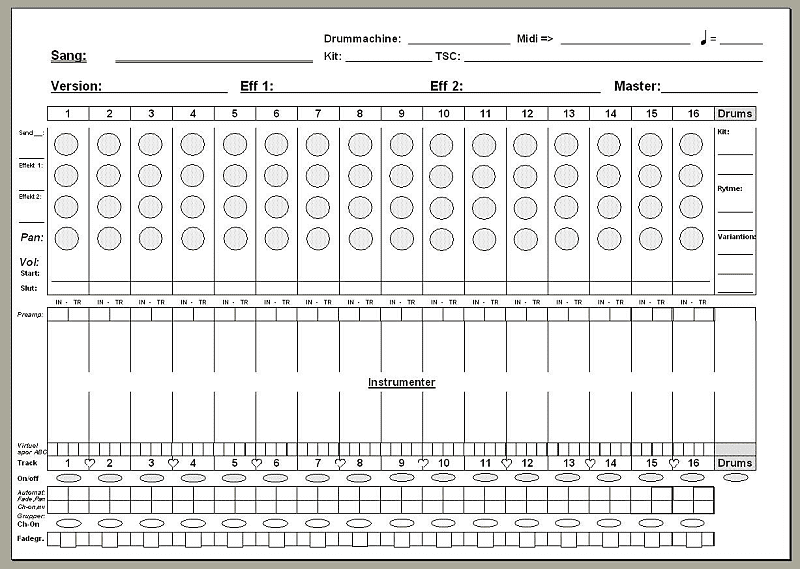 Korg D3200 Owners Manual Tracking Chart & System Restore