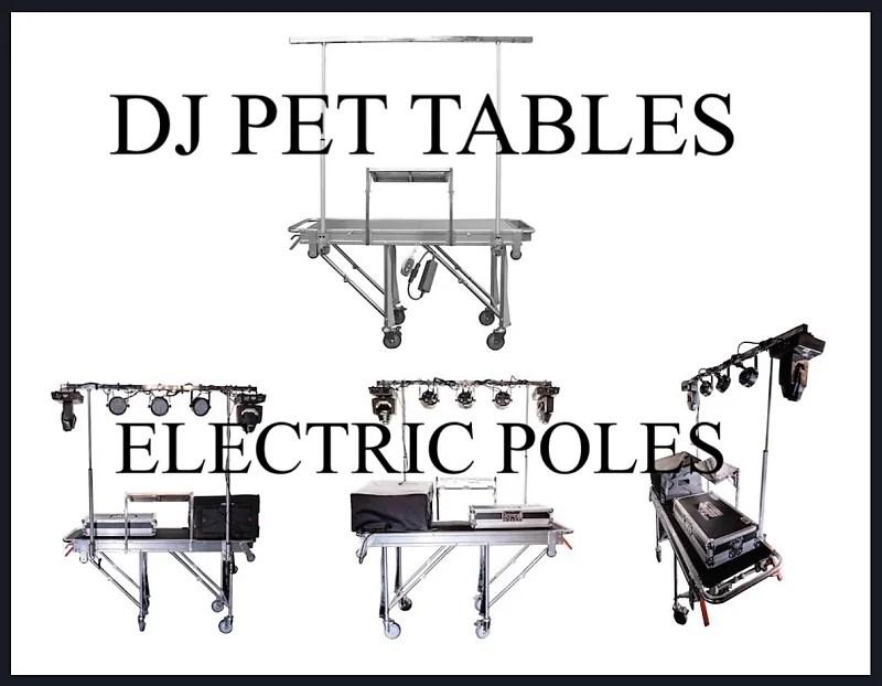 DJ TABLE DJ PET Promotional Event Table DJ PET Electric