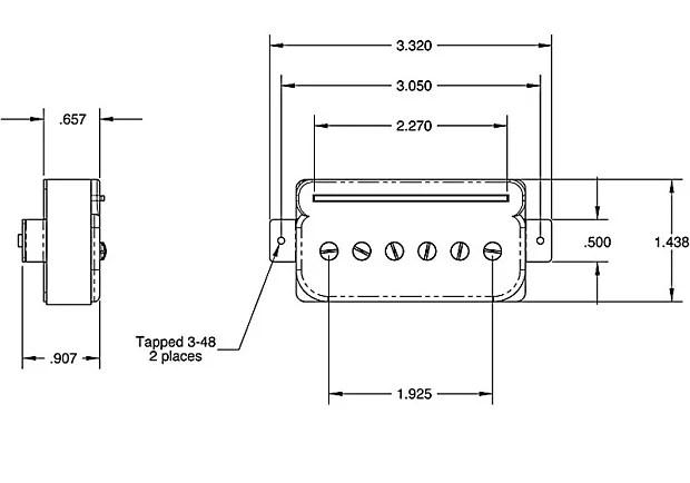 Seymour Duncan P-Rails Pickup Set w/ Pre-Wired TS-2 Les