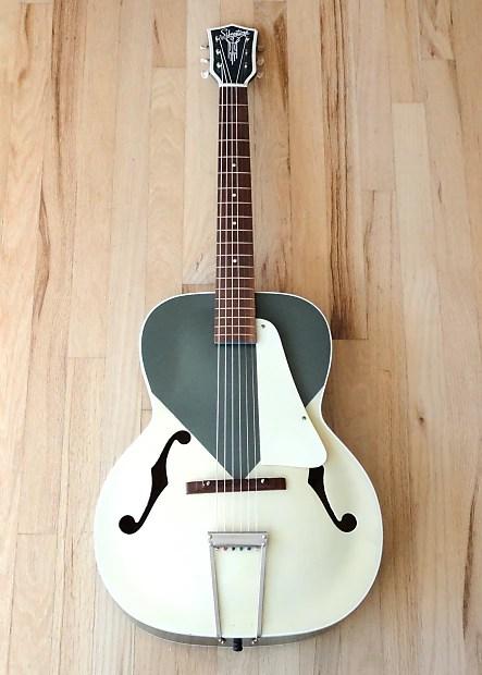 1950s Silvertone Catalina Art Deco Vintage Archtop Guitar