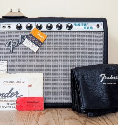 1974 fender princeton reverb silverface amp collector grade w hangtags cover footswitch [ 1600 x 1071 Pixel ]