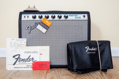 small resolution of 1974 fender princeton reverb silverface amp collector grade w hangtags cover footswitch