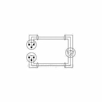 GLS Audio 4 Pack- XLR-F to Dual XLR-M Y-Cable/ Splitter