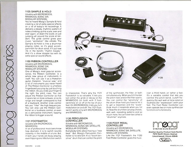 Moog 1150 Ribbon Controller Voltage Controller Accessory
