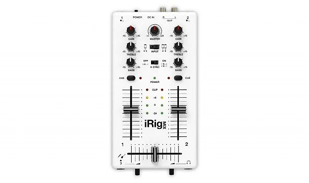 New IK Multimedia iRig MIX Ultra Compact DJ Mixer for