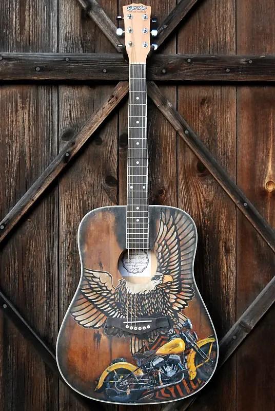 Custom Painted Acoustic Guitars : custom, painted, acoustic, guitars, Painted, Acoustic, Guitar, Biper, Custom, Guitars, Reverb