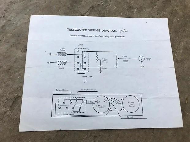 Fender Telecaster Wiring Diagram On Vintage Telecaster Wiring Diagram