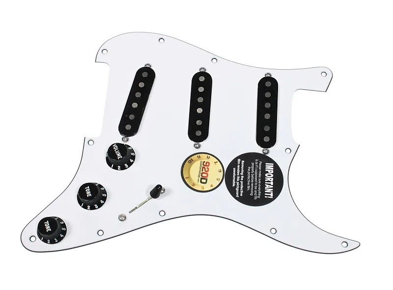 Fender Tex-Mex 920D Loaded Pre-wired Strat Pickguard WH/BK