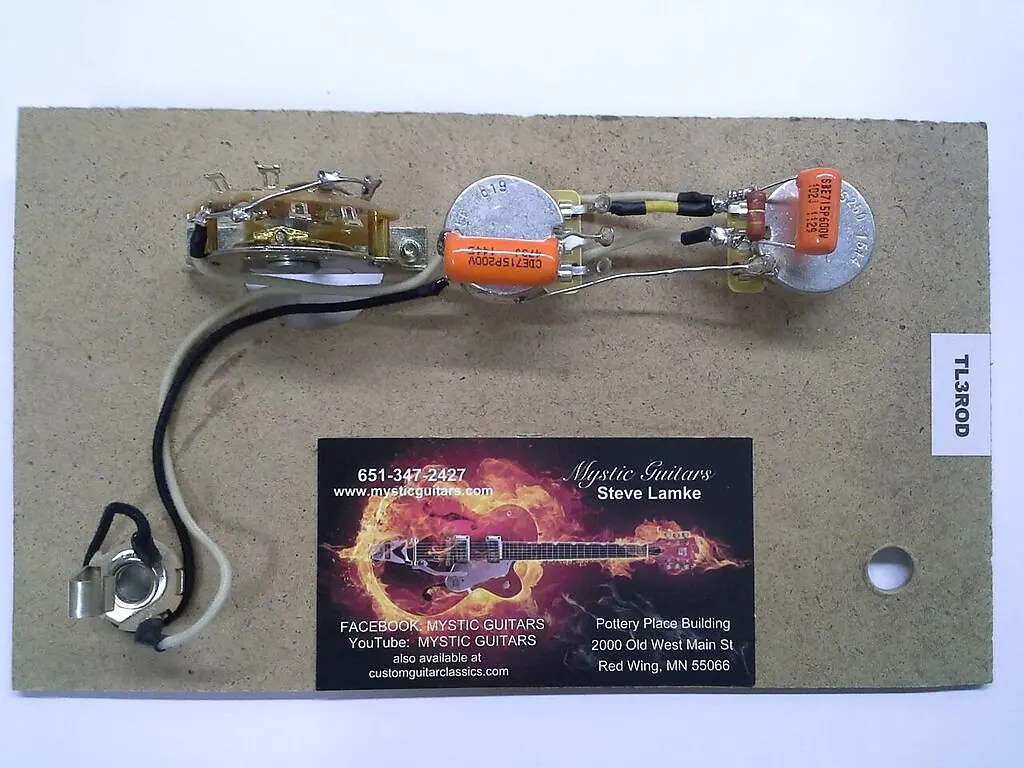 hight resolution of tele style guitar wiring kit w reverse mount 3 way switch free usa shipping