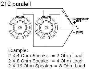 EarCandy 2x12 guitar amp speaker cab parallel wiring