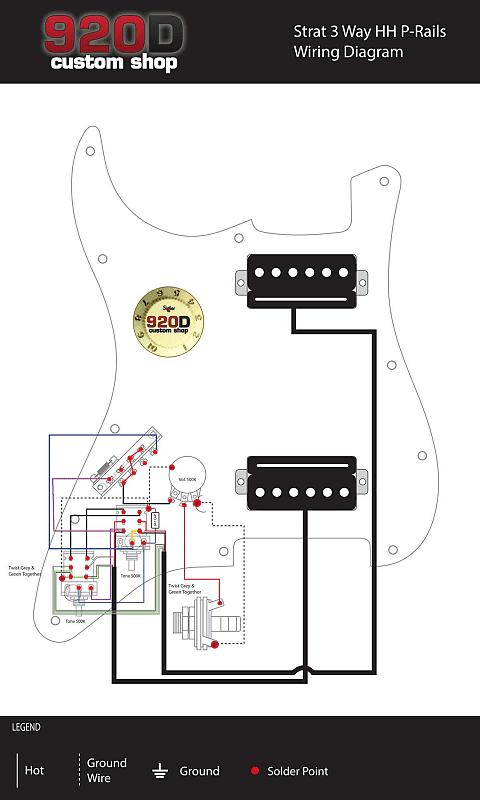 920D Custom Seymour Duncan P-Rails Loaded HH Stratocaster