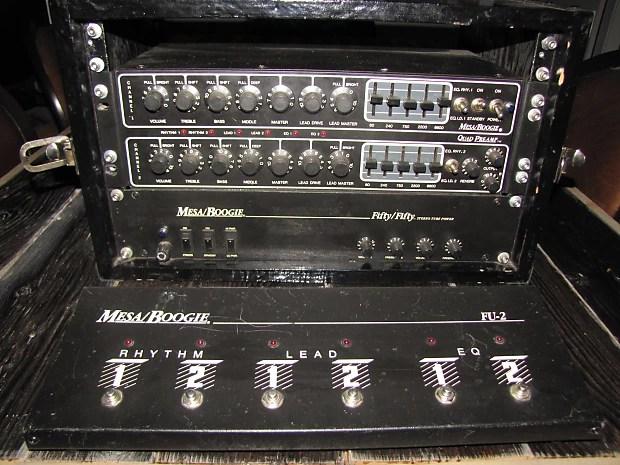 Mesa Boogie Quad Preamp  Stereo 5050 Tube Power Amp  Reverb