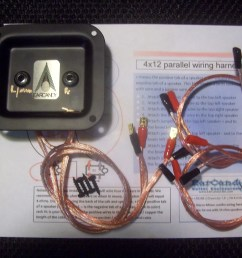 earcandy 4x10 4x12 guitar speaker cab wiring harness 8 16 ohm series parallel no soldering p out [ 1600 x 1200 Pixel ]