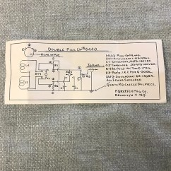 Gretsch Wiring Diagram 120v Receptacle 1960 S Double Pickup 6440 Case Reverb Sold