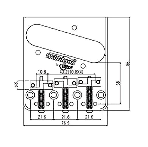 Wilkinson WTB NICKEL Vintage Telecaster Guitar Bridge w