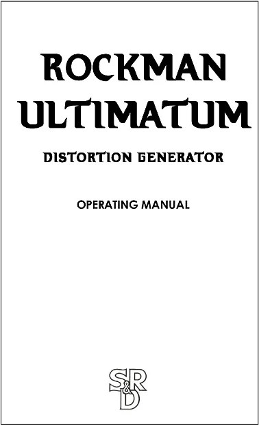 Rockman Ultimatum Distortion Generator (SUPER RARE
