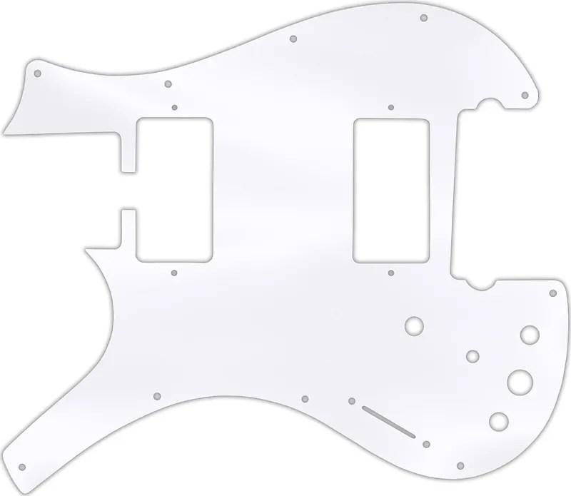WD Custom Pickguard For Left Hand Parker Dual Humbucker
