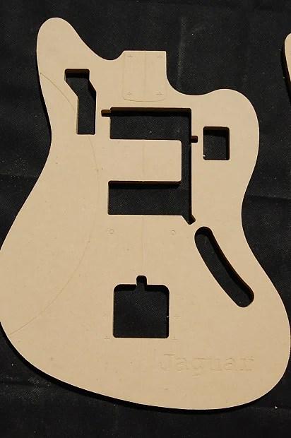Jaguar Guitar Router Template Set 12 MDF CNC Reverb
