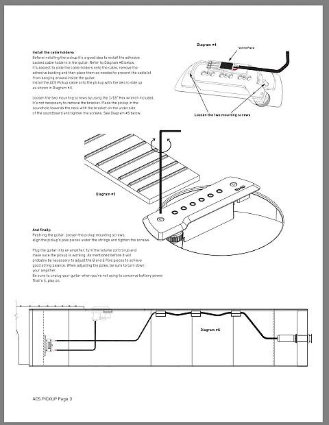 EMG ACS / Bajo Chrome / Chromo Acoustic Pickup, Bajo Sexto