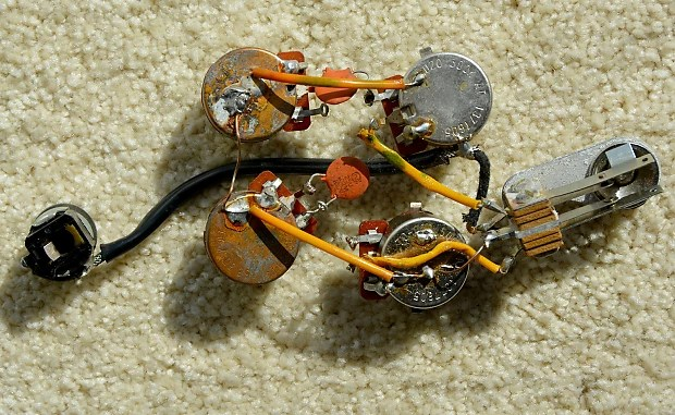 Vintage Ibanez Guitar Wiring Harness With Switch Pots And Input Jack
