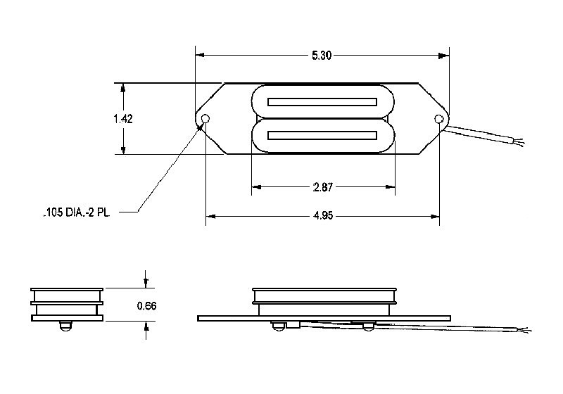 Seymour Duncan SRB-1b Rickenbacker Bass Humbucker Bridge