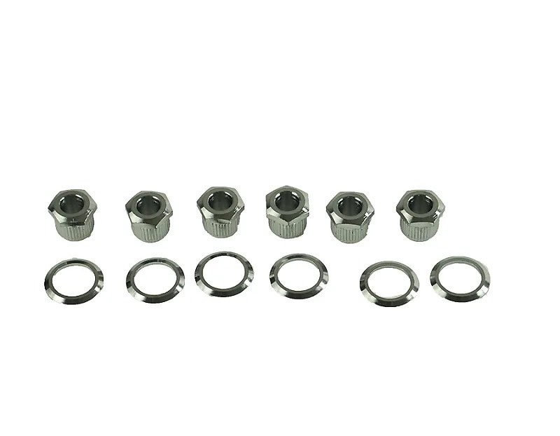 Kluson HEX HEAD TUNER ADAPTER BUSHINGS W/ WASHERS Chrome