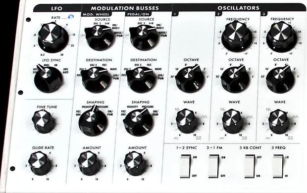 Moog Minimoog Voyager Performer White w/ Flashing Wheels